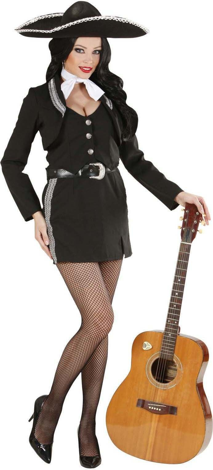 Ladies Mariachi Woman- (Jacket W/Vest Skirt Belt Bowtie) Spanish -