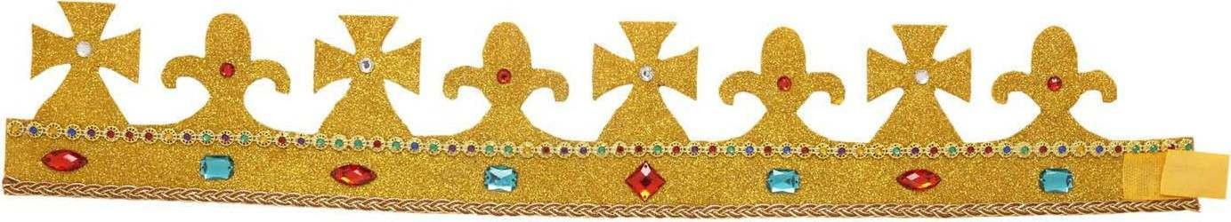 Royal Glitter Crowns W/ Gems Bendable Hats