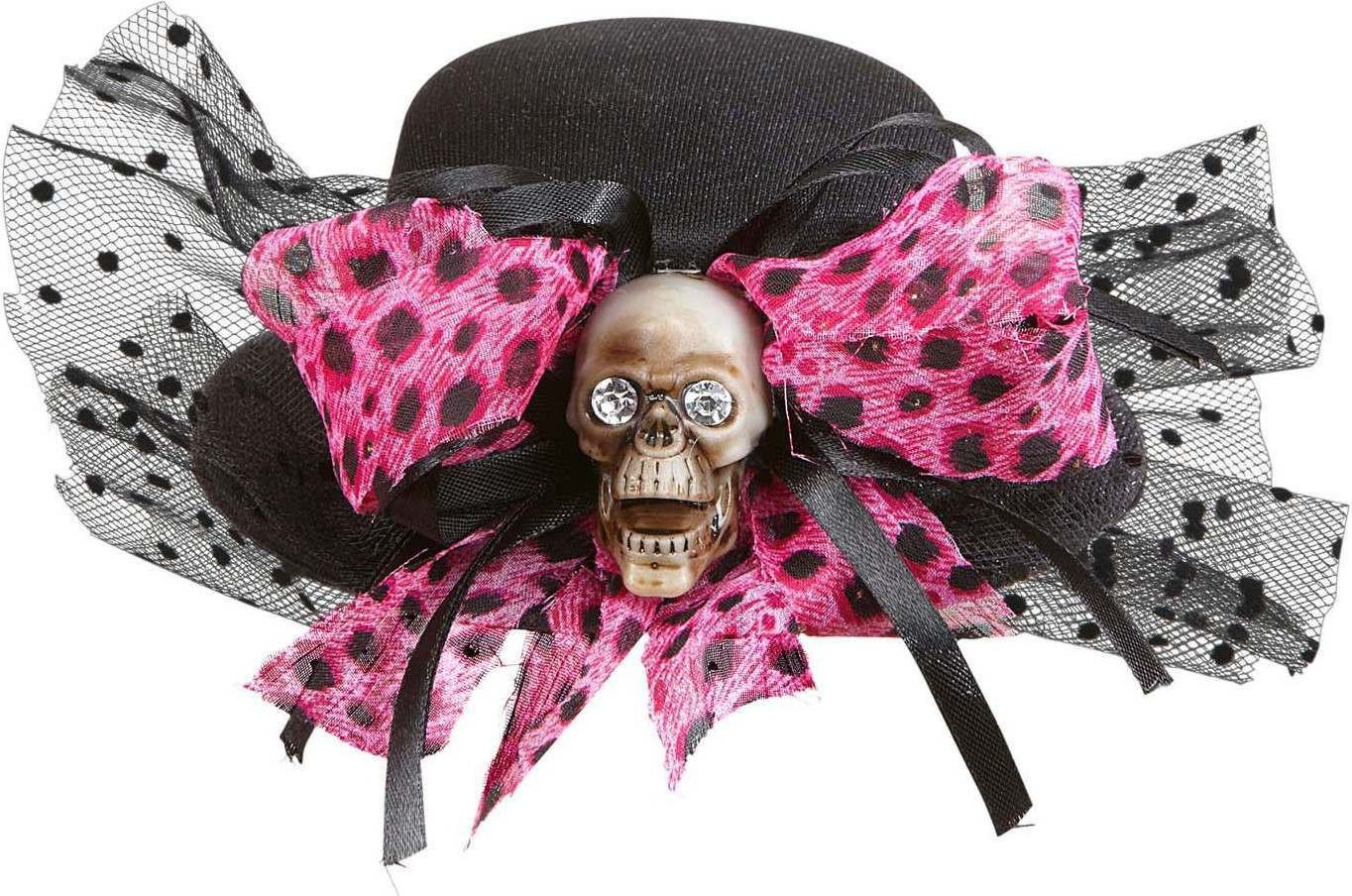 Skull Mini Top Hats With Bow Hats