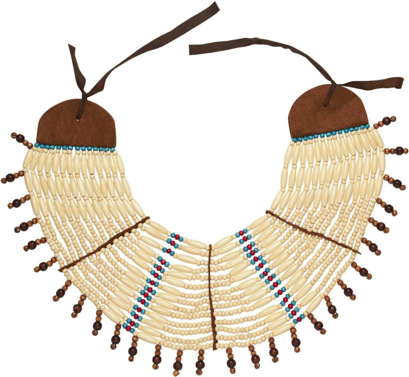 Native Indian Maxi Necklace/Breastplate Jewellery - (Brown)