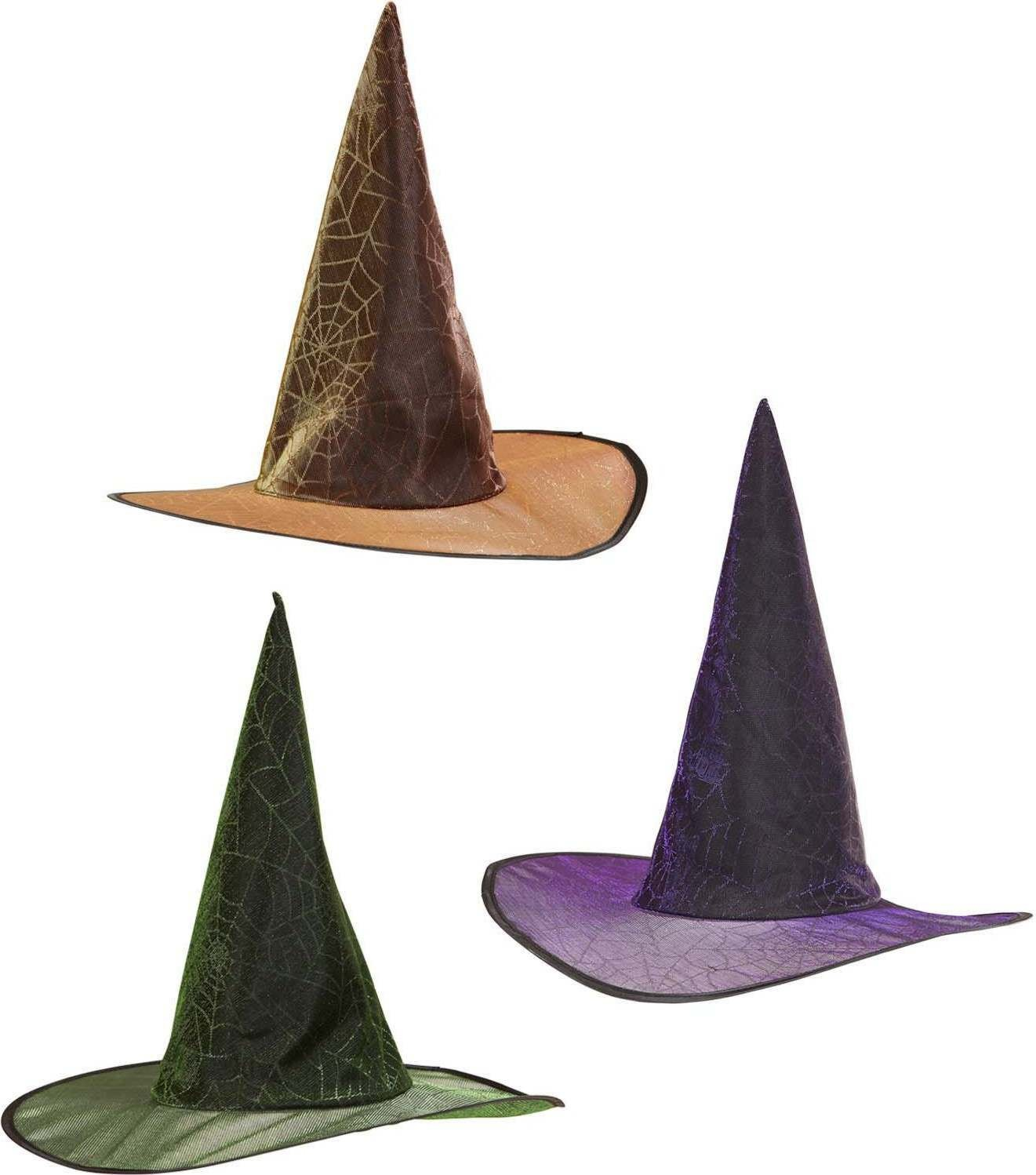 Spidermesh Witch Hats (Green/Orange/Purple) Hats