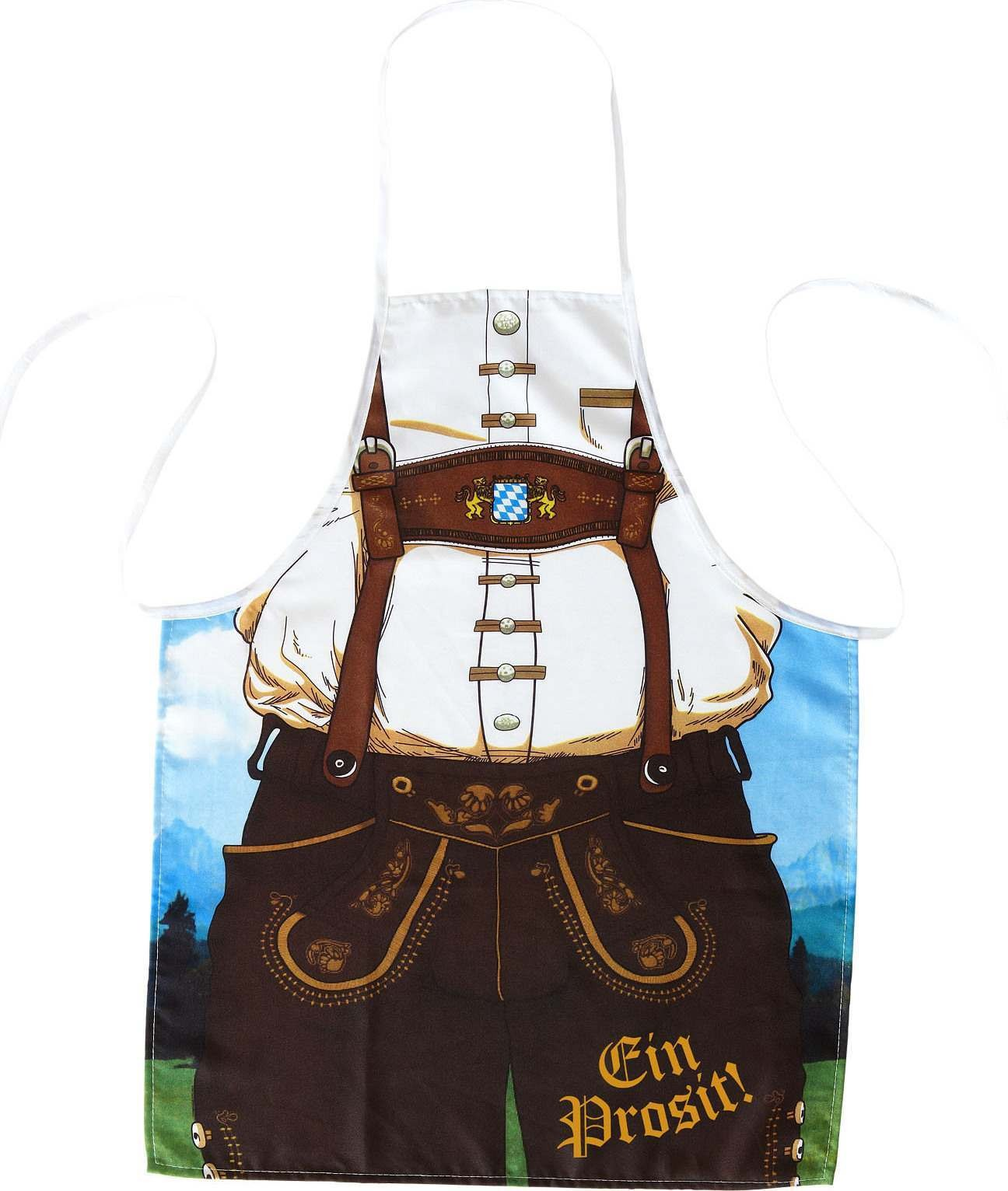 Mens Bavarian Man Apron Accessories - (Brown)