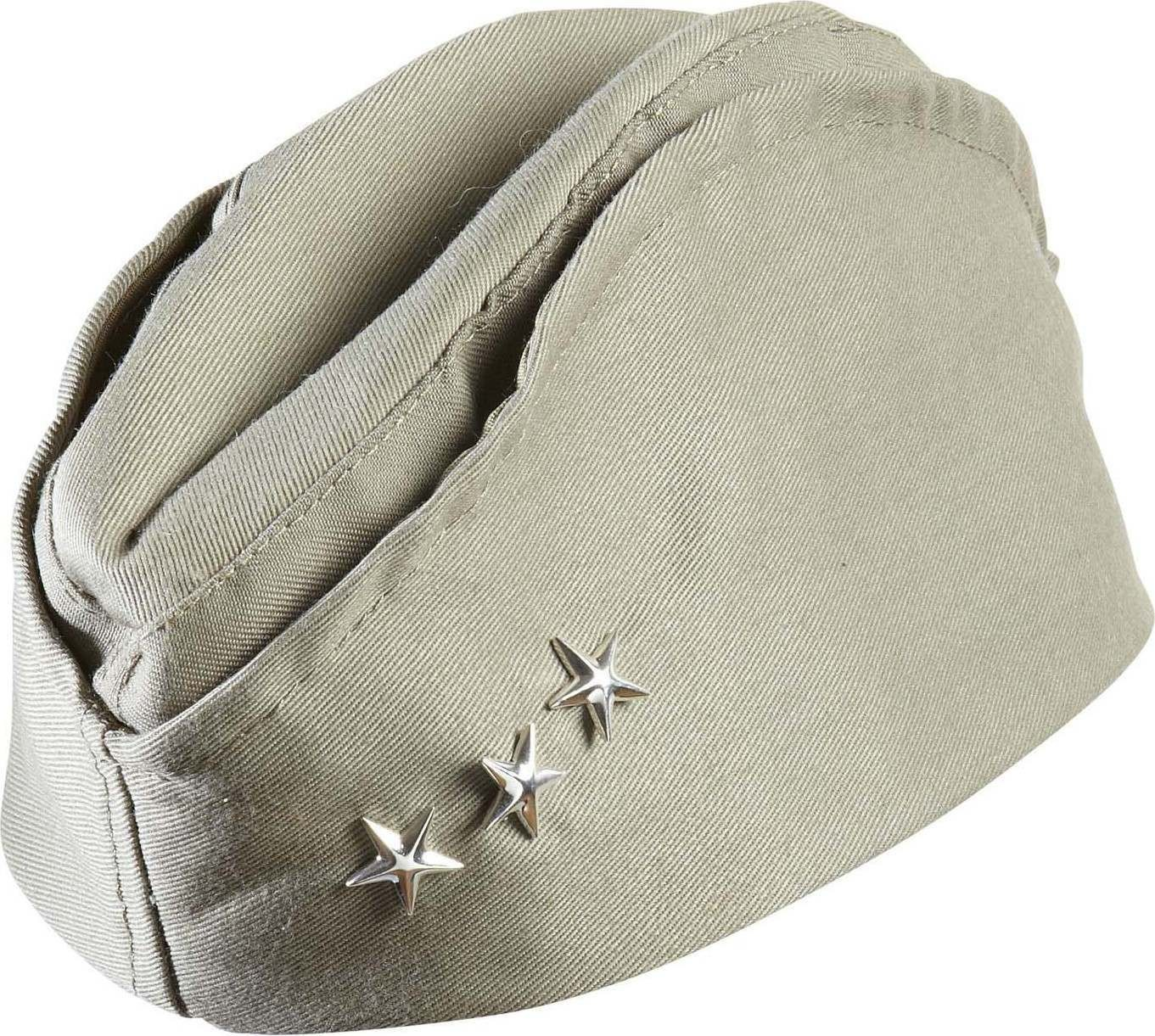 Ww2 American Soldier Hat W/ 3 Stars Hats
