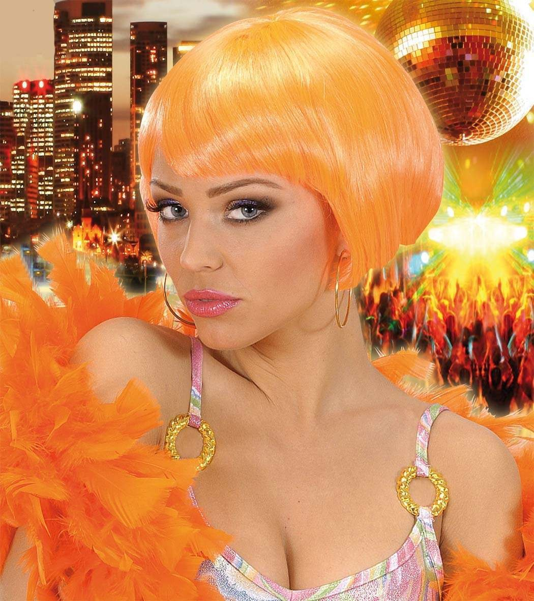 Valentina Wig - Neon Orange - Fancy Dress Ladies