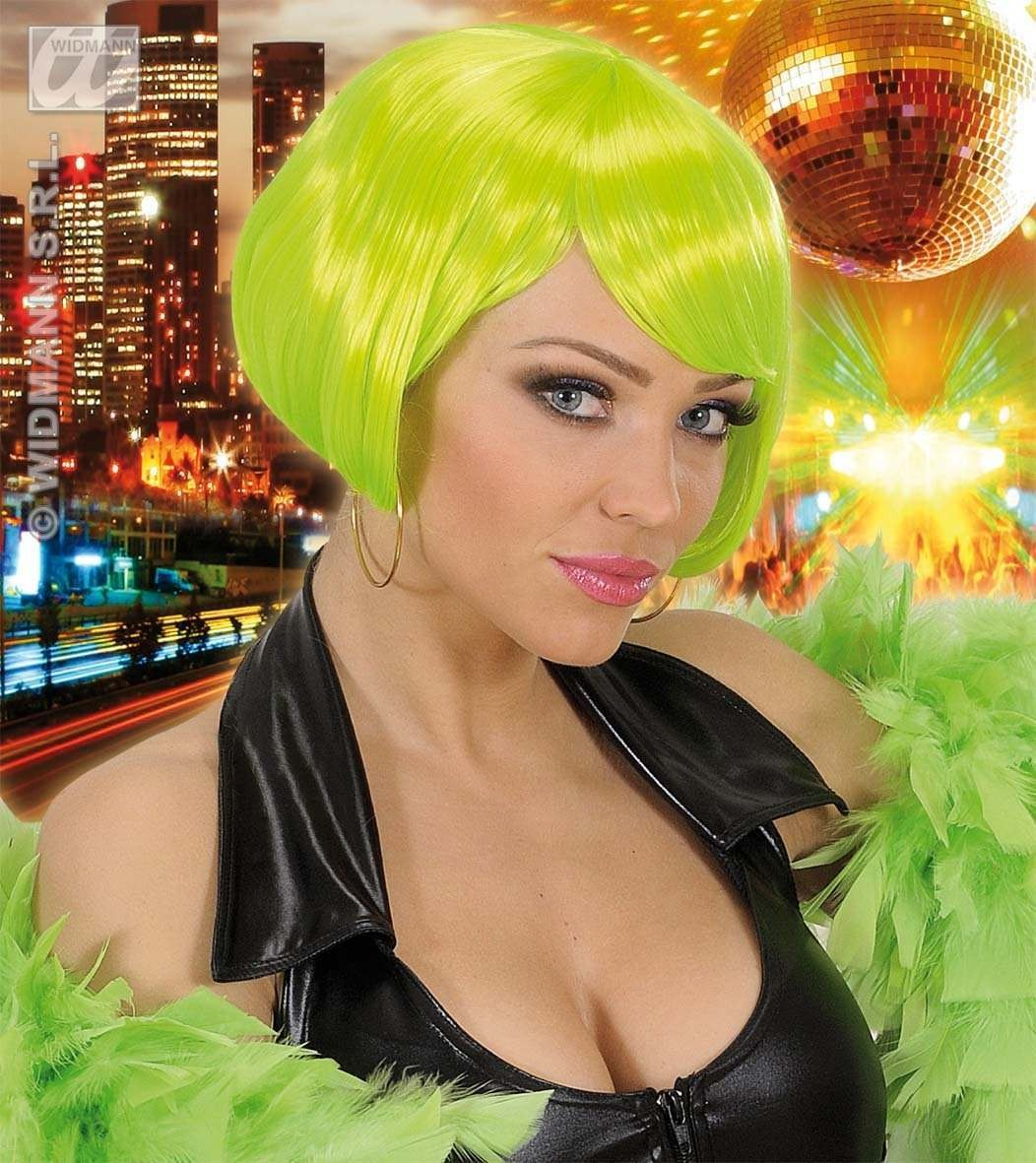 Valentina Wig - Neon Green - Fancy Dress Ladies