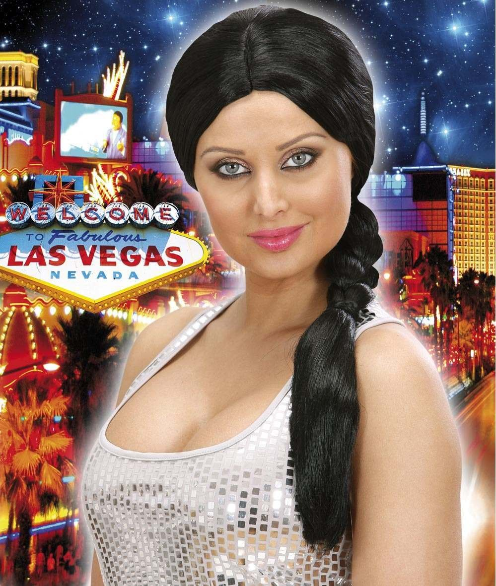 Long Big Plait Wig - Black - Fancy Dress