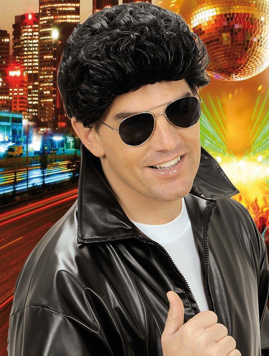 Greaser Wig Black - Fancy Dress (Film)