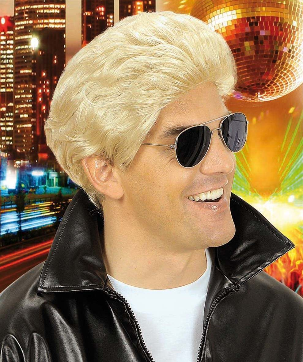 Greaser Wig Blonde - Fancy Dress (Film)