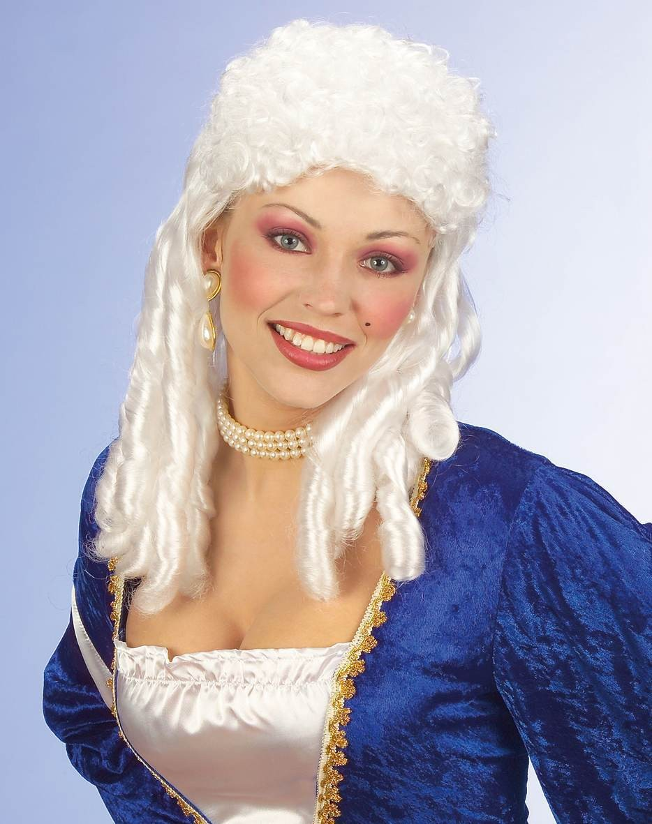 Colonial Woman Wig Boxed - Fancy Dress Ladies