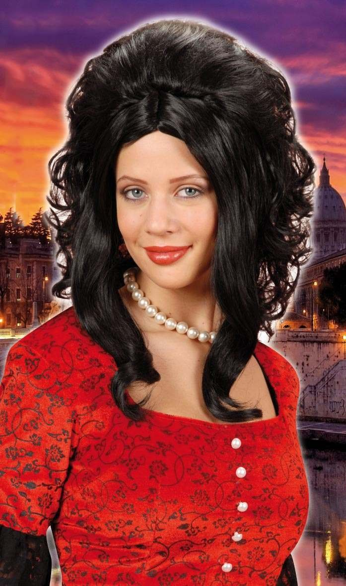 Catherine Wig Black - Fancy Dress
