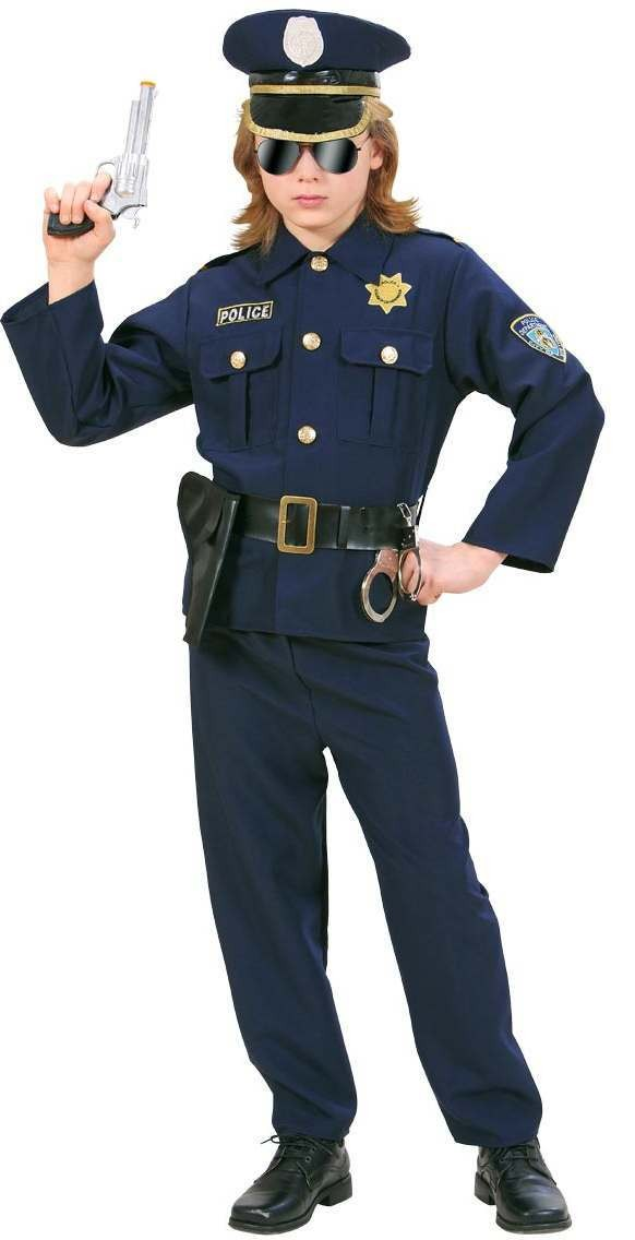 Heavy Fabric Policeman Fancy Dress Costume Boys (Cops/Robbers)