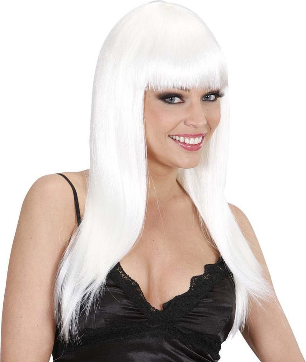 Ladies Beautiful Wig - White Wigs - (White)