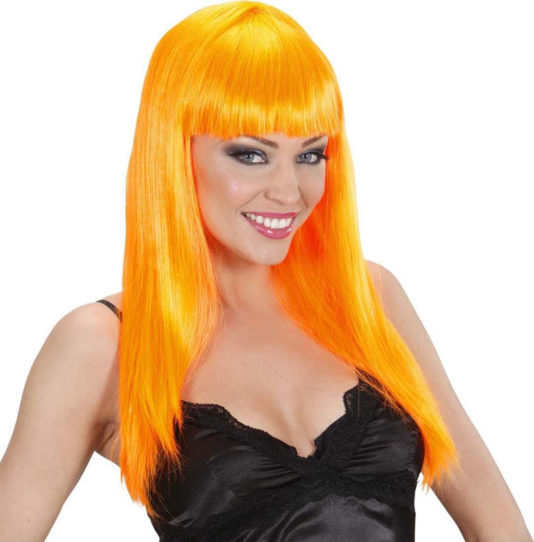 Ladies Beautiful Wig - Orange Wigs - (Orange)