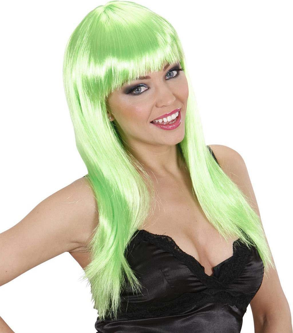 Ladies Beautiful Wig - Green Wigs - (Green)