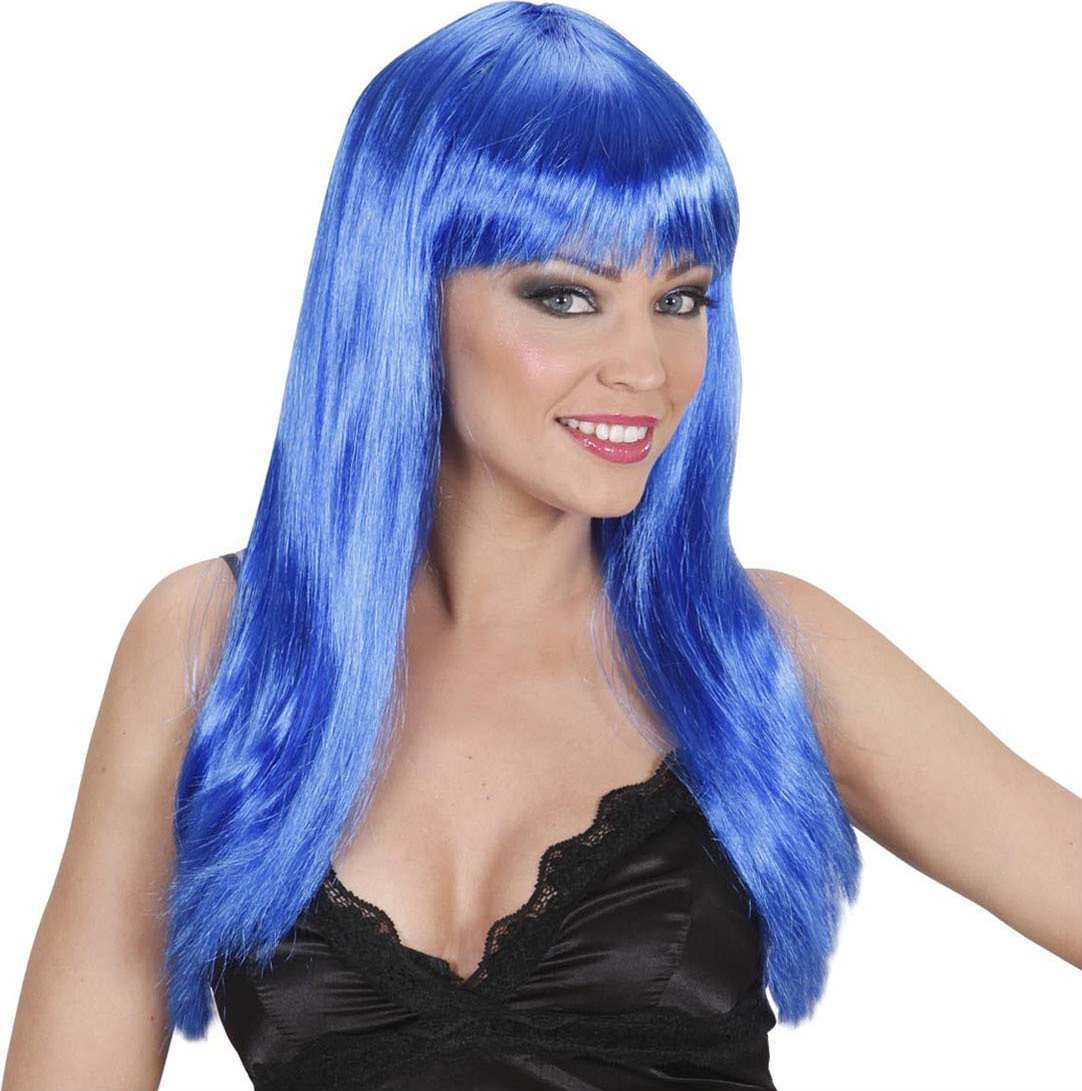 Ladies Beautiful Wig - Blue Wigs - (Blue)