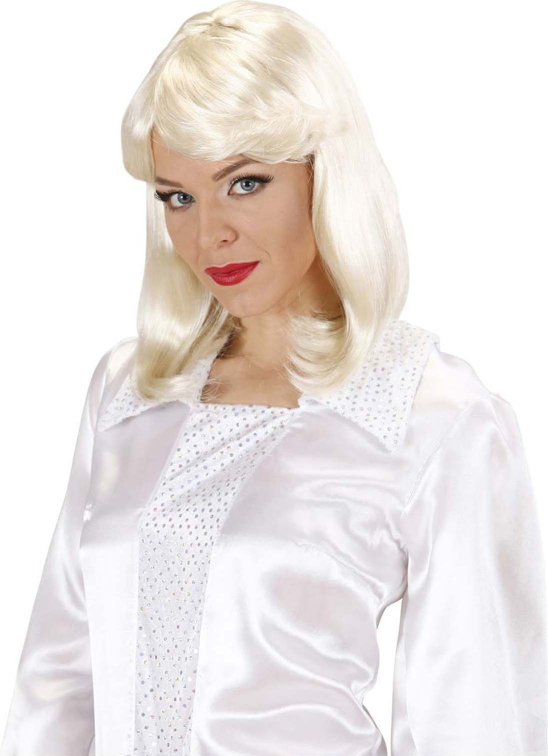 Ladies 70S Pop Star Agnetha Wig Boxed Blonde Wigs - (Blond)