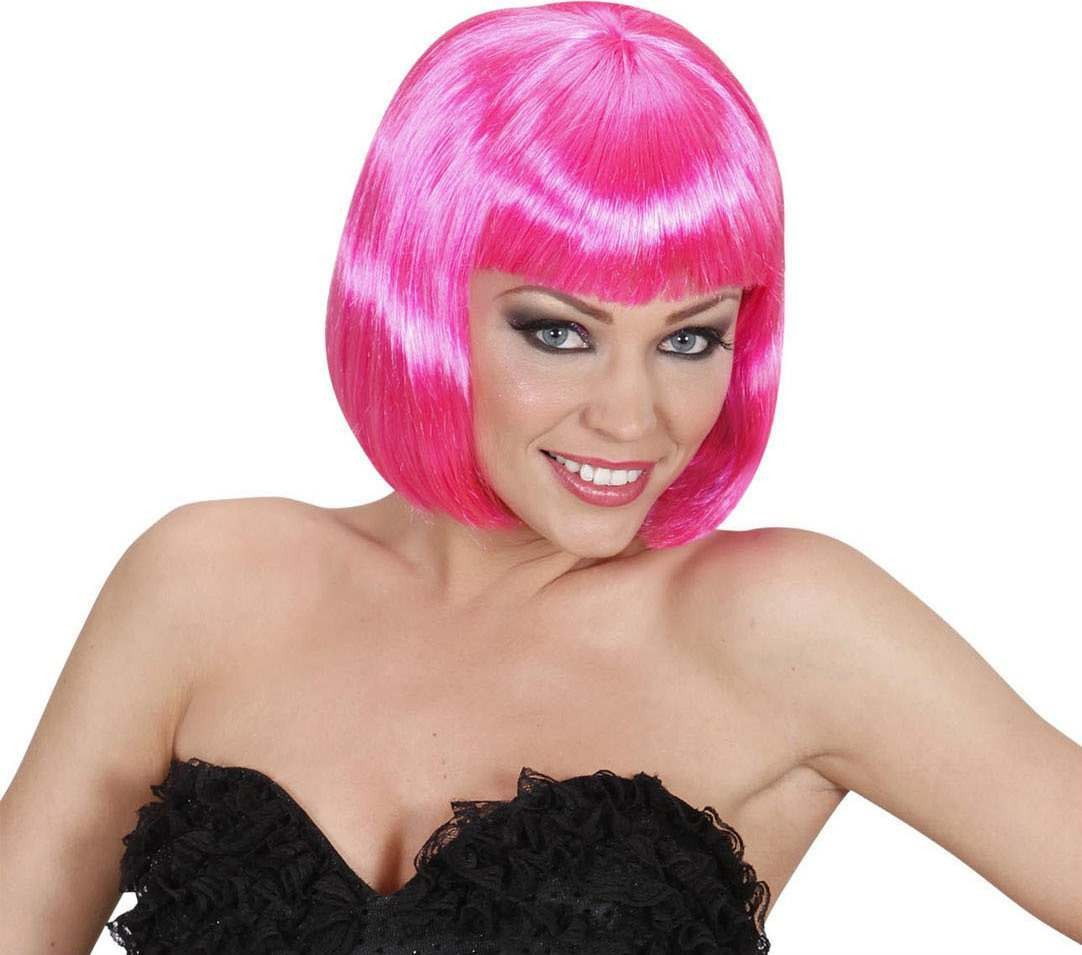 Ladies Lovely Wig - Hot Pink Wigs - (Pink)