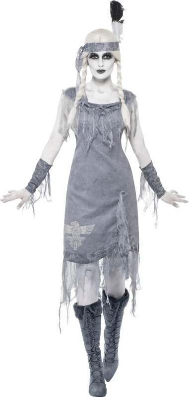 Ladies Ghost Town Indian Princess Fancy Dress Costume