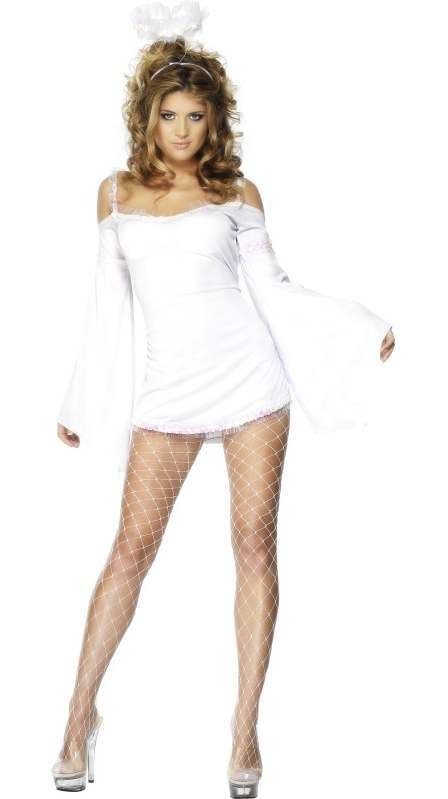 Fever Angel Fancy Dress Costume Ladies (Christmas)