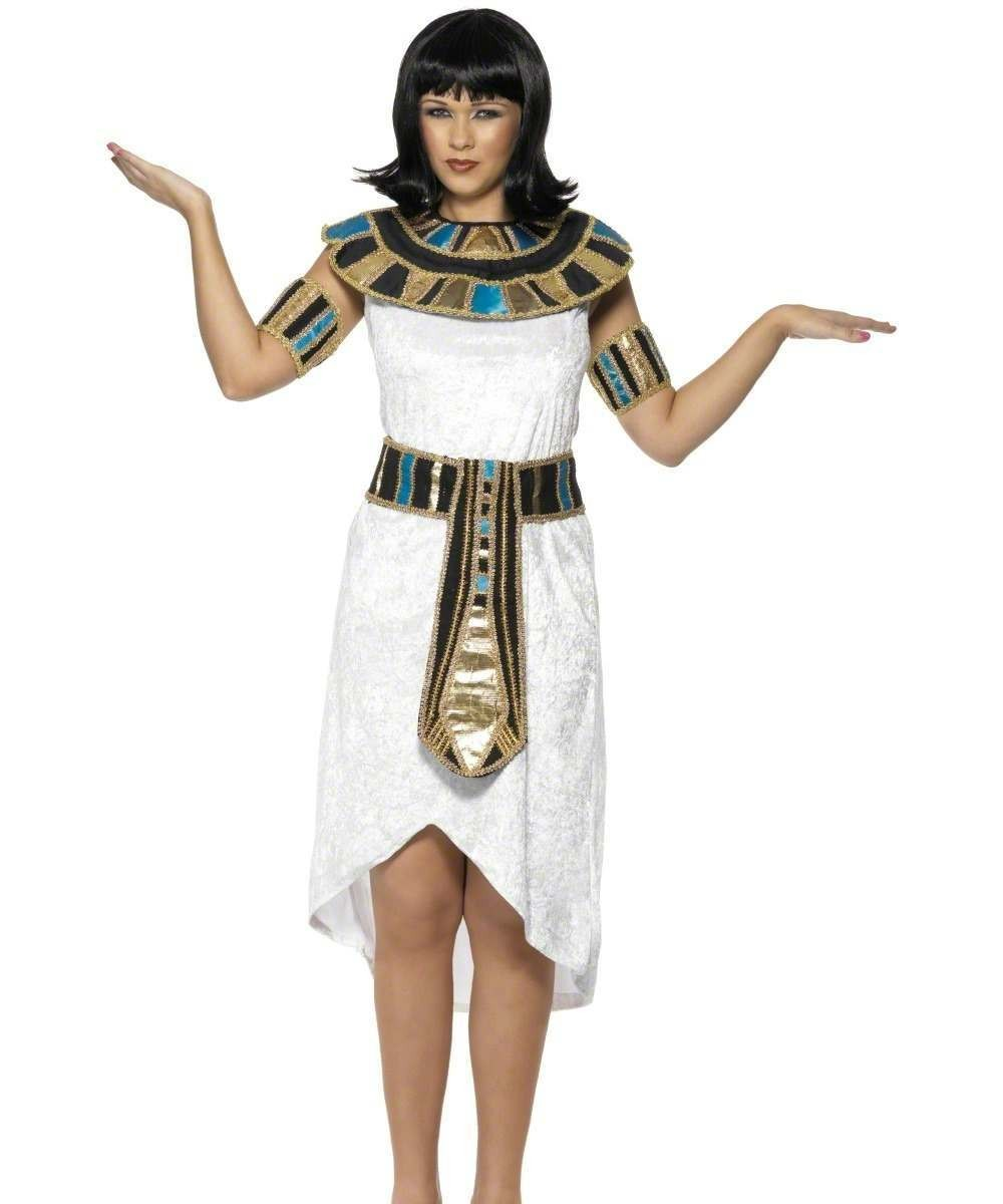 Ladies Egyptian Lady Costume Egyptian Outfit (White)