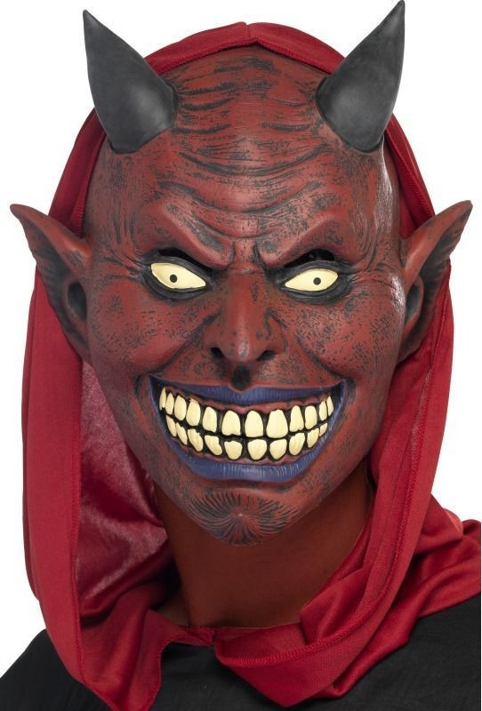 Mens Demon Devil Full Overhead Mask Halloween Masks
