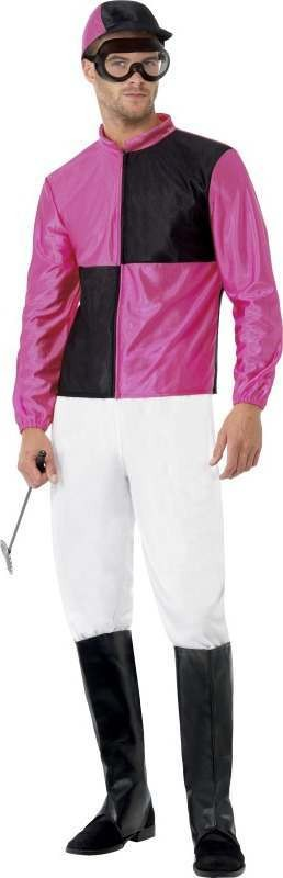 Mens Jockey Costume Sport Outfit