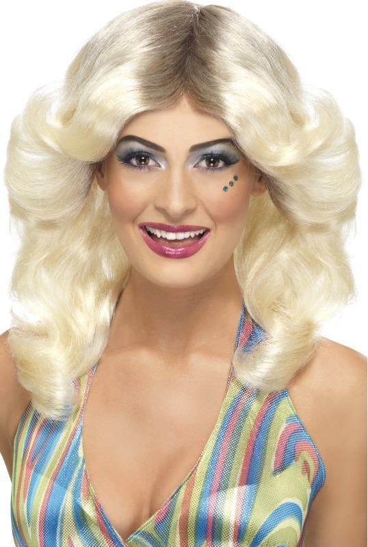 Ladies 70'S Flick Wig - (Blond)