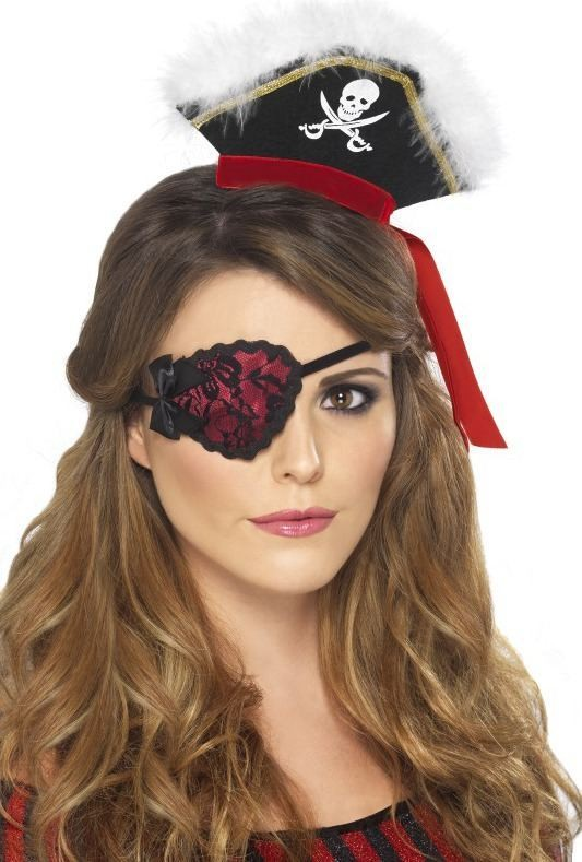 Ladies Pirate Eyepatch Disguises - (Red)