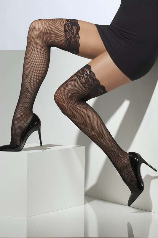 f89d061bc Buy Ladies Fishnet Hold-Ups Tights - (Black) - Largest online fancy dress  range in the UK - Price Guarantee   FREE Delivery