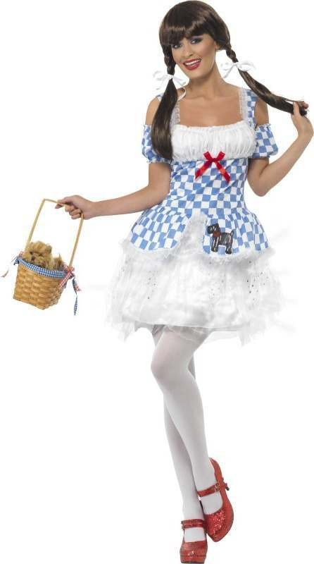 Ladies Light Up Dorothy Costume Fairy Tales Outfit (Blue)