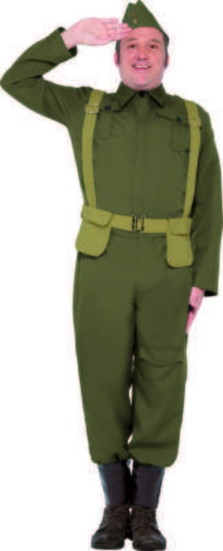 Mens Ww2 Home Guard Private Costume Army Outfit