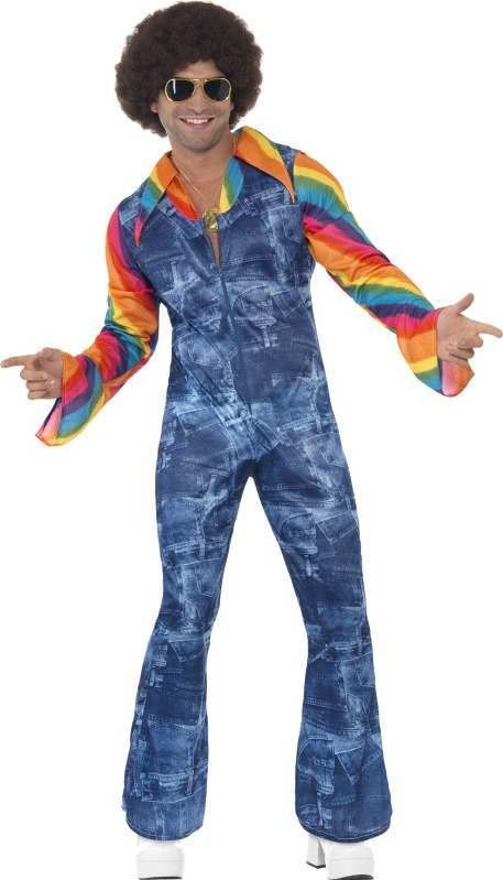 Mens Groovier Dancer Costume Disco Outfit