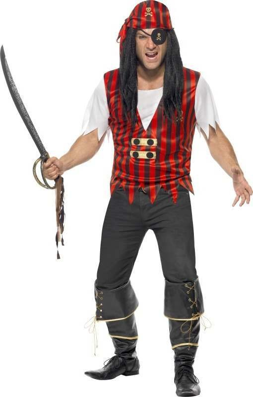 Adult Unisex Pirate Instant Kit Pirates Outfit - Unisex Medium (Multicolour)
