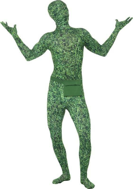 Mens Second Skin Costume, Grass Pattern Grass Outfit