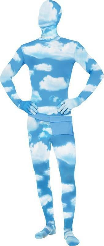 Mens Second Skin Costume, Cloud Pattern Cloud Outfit