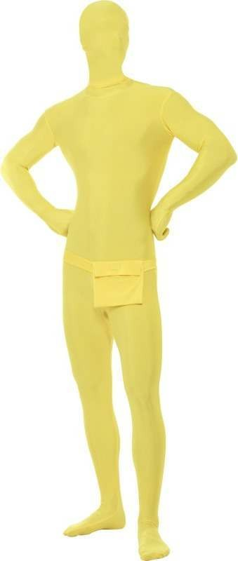 Adult Unisex Second Skin Suit Outfit - Unisex Large (Yellow)