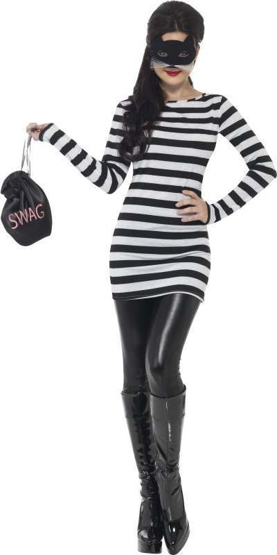 Ladies Cat Burglar Kit Cops/Robbers Outfit