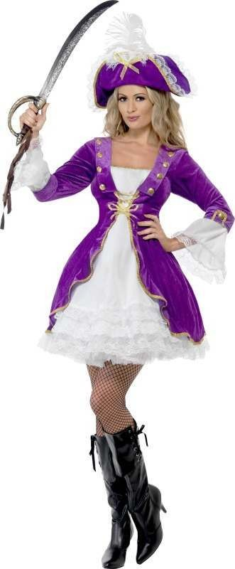 Ladies Purple Pirate Beauty Pirates Outfit (Purple)