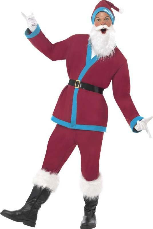 Mens Supporters Santa Costume Christmas Outfit (Purple)