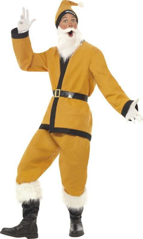 Mens Supporters Santa Costume Christmas Outfit (Gold)