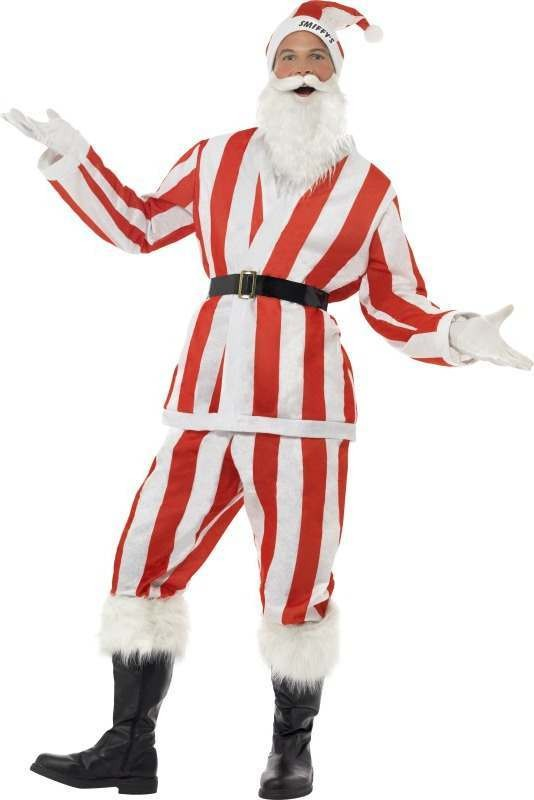 Mens Supporters Santa Costume Christmas Outfit (Multicolour)