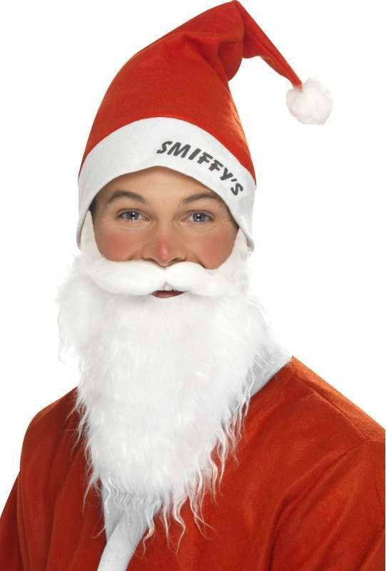 Mens Supporters Santa Instant Kit Christmas Outfit - One Size (Red,White)