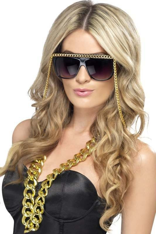 Adult Unisex Ghetto Fabulous Specs Glasses - (Black)