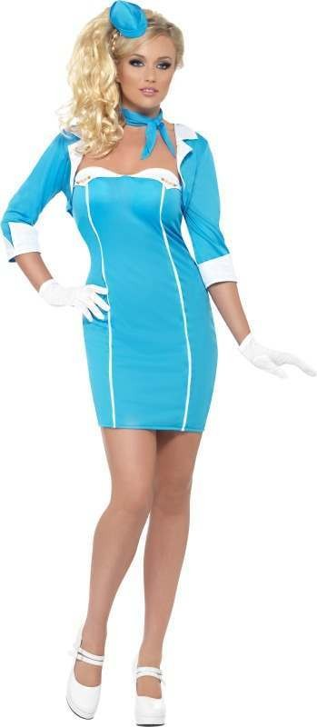 Ladies Fever Hostess With The Mostess Pilot/Air Outfit (Blue)