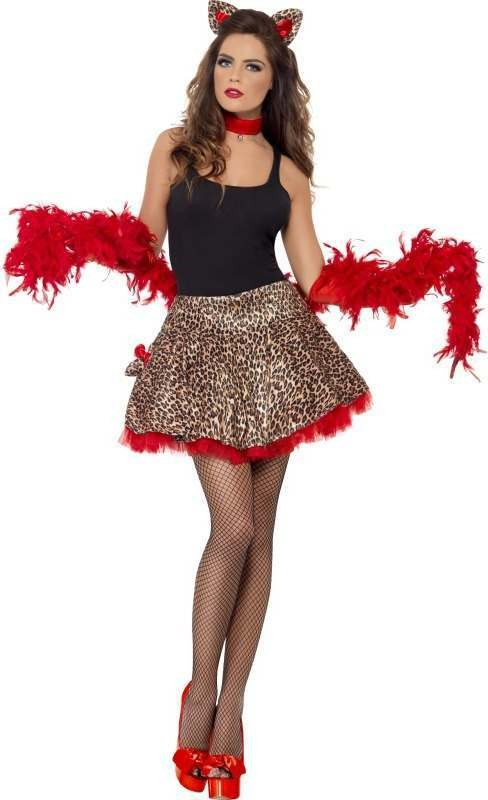 Ladies Fever Party Pussy, Glamour Pussy Costume Disco Outfit - One Size