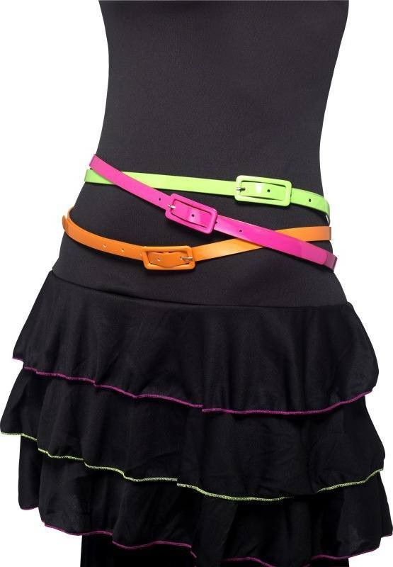 Ladies Neon Belts, Multipack Of 3 Other