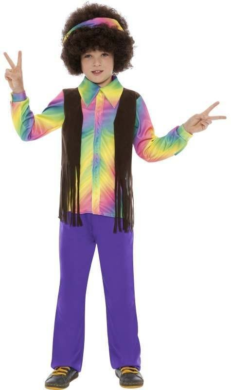Boys Hippie Aroma- Costume Hippy Outfit - Age 4-6