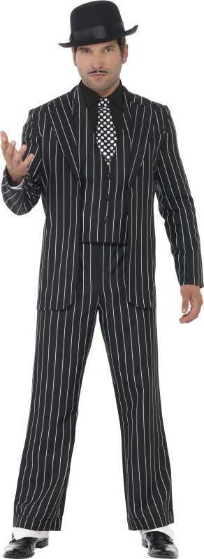 Mens Vintage Gangster Boss Costume Cops/Robbers Outfit