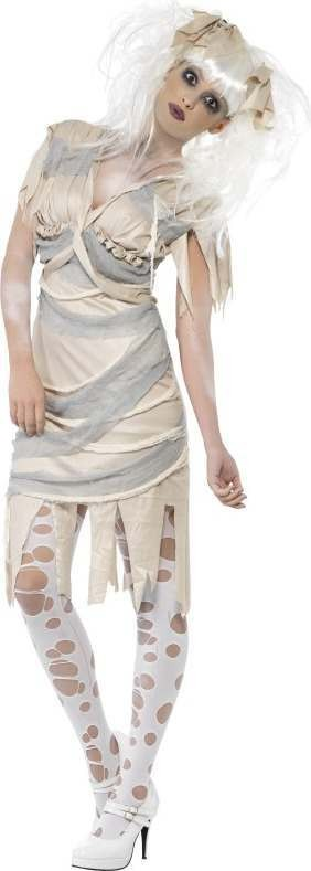 Ladies Female Mummy Costume Halloween Outfit