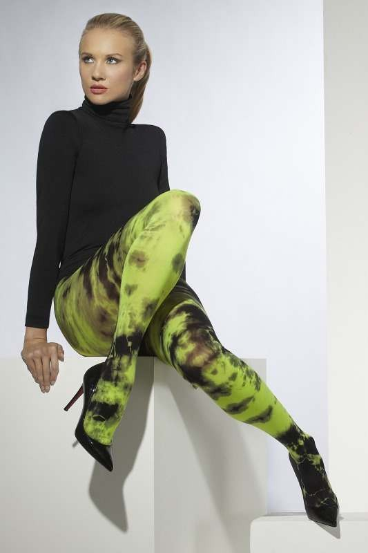 Ladies Opaque Tights Tights - (Black, Green)